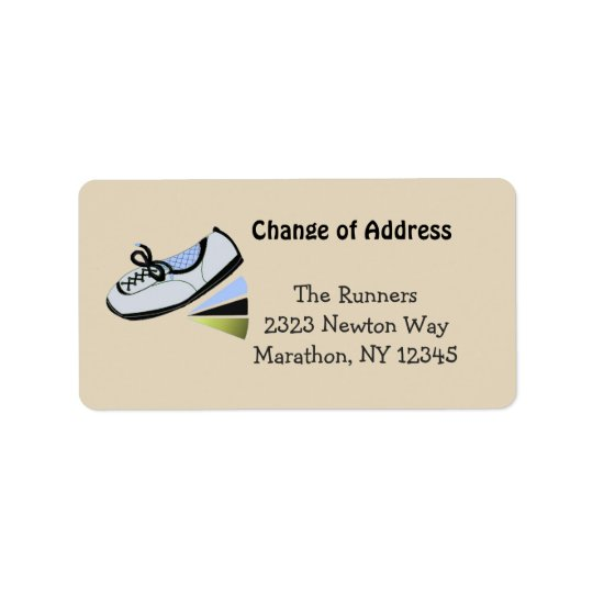 Classy Blue Running Design Address Label