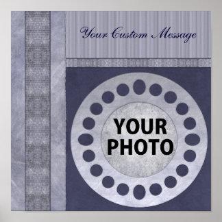 Classy Blue Scrapbook Poster