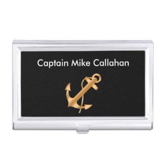 Classy Boat Captain Business Card Case