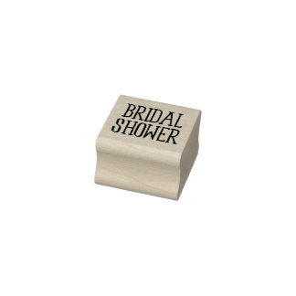 Classy Bridal Shower Rubber Stamp