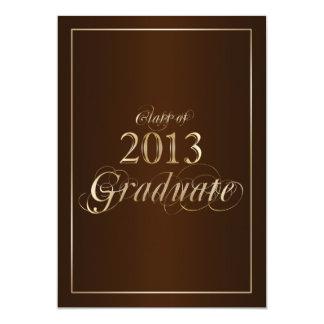 Classy Brown and Gold 2013 Graduate Invitation