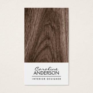 Classy, brown oak wood grain professional profile