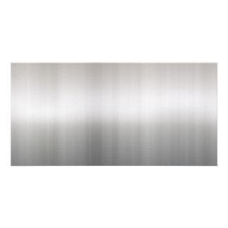 Classy Brushed Aluminum Personalised Photo Card