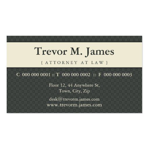 CLASSY BUSINESS CARD :: stately 8L