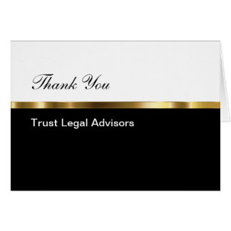 Classy Business Thank You Note Card
