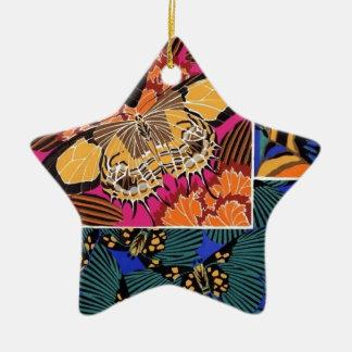 Classy Butterflies Ceramic Star Decoration