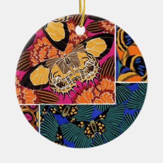 Classy Butterflies Round Ceramic Decoration