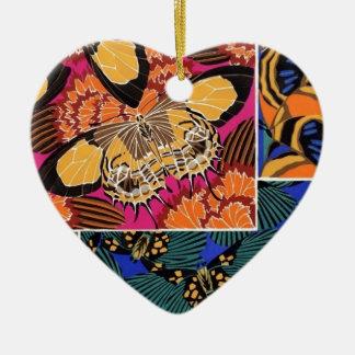 Classy Butterflies Ceramic Heart Decoration