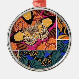Classy Butterflies Silver-Colored Round Decoration