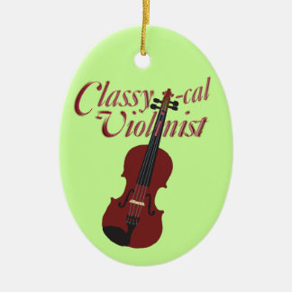 Classy-cal Violinist Christmas Ornament