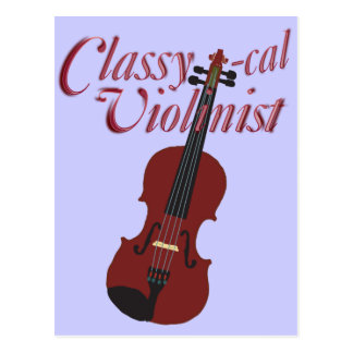 Classy-cal Violinist Post Cards
