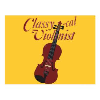Classy-cal Violinist Postcard