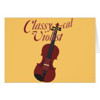 Classy-cal Violist Greeting Card