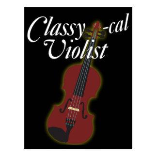 Classy-cal Violist Post Card