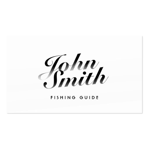 Classy Calligraphic Fishing Guide Business Card