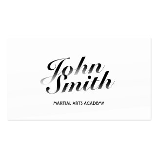 Classy Calligraphic Martial Arts Business Card