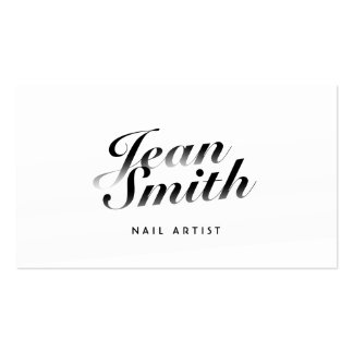 Classy Calligraphic Nail Art Business Card