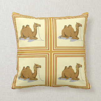 Classy Camel Pattern Tile Throw Pillows