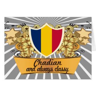 Classy Chadian Greeting Card