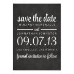 "Classy Chalkboard Photo Save The Date Invites 5"" X 7"" Invitation Card"