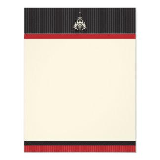 Classy Chandelier Flat Note Cards (GGs) 11 Cm X 14 Cm Invitation Card