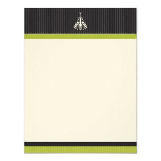 Classy Chandelier Flat Note Cards (Oscars) 11 Cm X 14 Cm Invitation Card