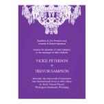 Classy Chandelier Wedding Invitations