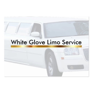 Classy Chauffeur or Limo Service Pack Of Chubby Business Cards