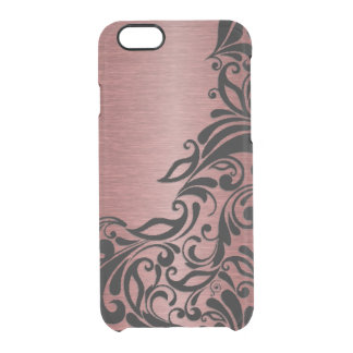 Classy Chic Elegant Paisley Damask Floral Pattern Clear iPhone 6/6S Case