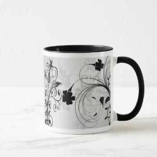 Classy & Chic Modern Flower Detail Mug/Cup Mug