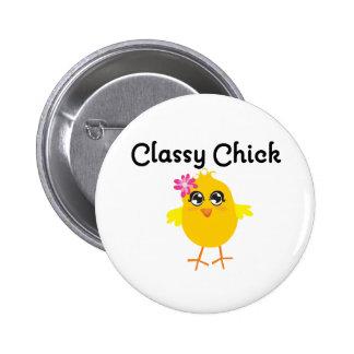 Classy Chick 6 Cm Round Badge