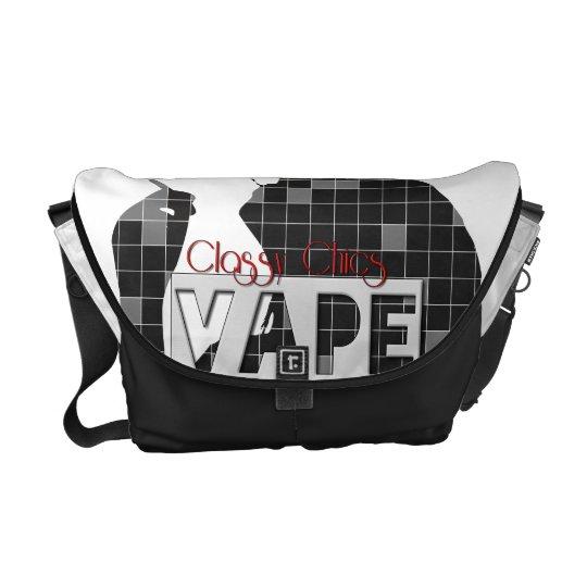Classy Chics Vape Checkerd Pattern Courier Bag