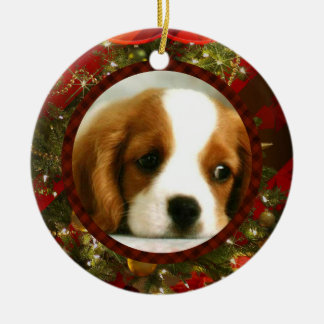Classy Christmas -Add Your Own Pet or People Image Christmas Ornament