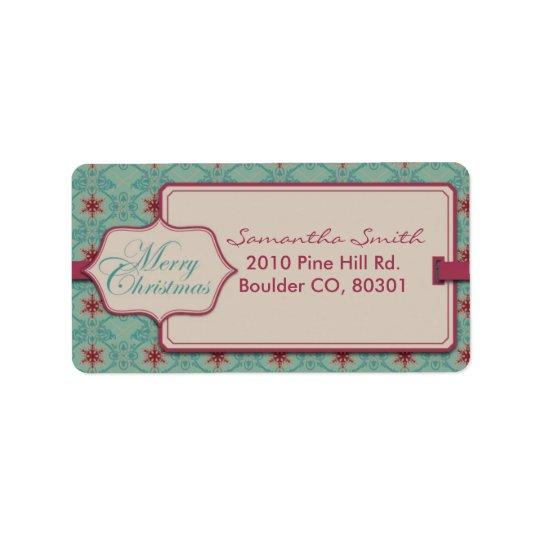 Classy Christmas Address Label