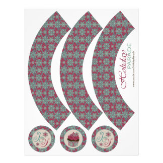 Classy Christmas Bohemian Cucpake Wrappers Flyers