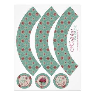 Classy Christmas Cupcake Wrapper Flyer Design