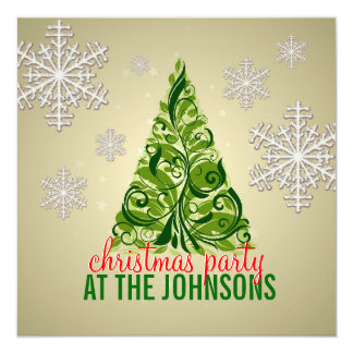 Classy Christmas Tree Party invitation