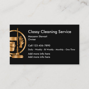 Cleaning Services Business Cards Zazzle Uk