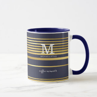 classy coffee moments personalized mug