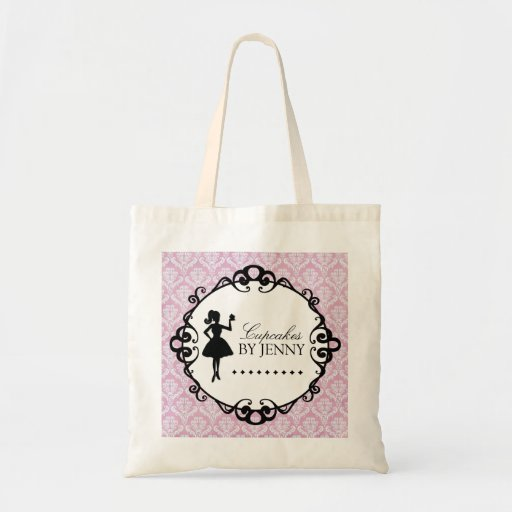 Classy Cupcake Silhouette Shopping Bag