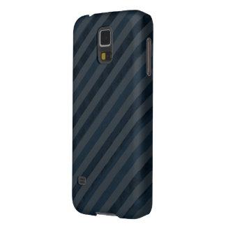Classy Custom Dark Aqua & Navy Blue - Stripes Cases For Galaxy S5