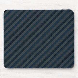 Classy Custom Dark Aqua & Navy Blue - Stripes Mouse Mat