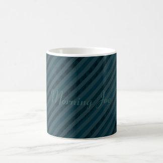Classy Custom Dark Aqua & Navy Blue - Stripes Mugs