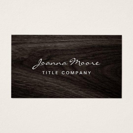 Classy dark oak wood grain professional profile business