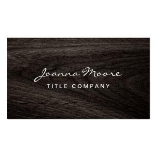 Classy dark oak wood grain professional profile pack of standard business cards