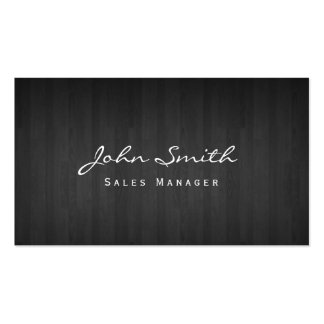 Classy Dark Wood Sales Manager Business Card