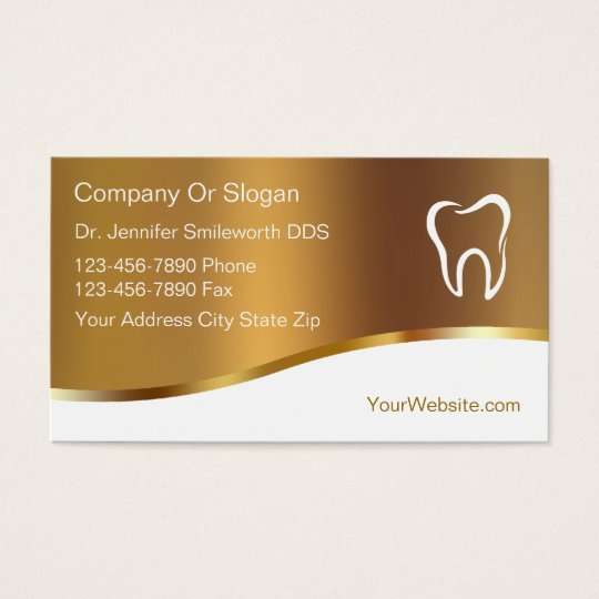 Classy Dentist Business Cards
