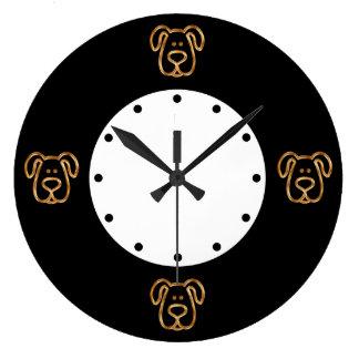 Classy Dog Theme Wall Clocks