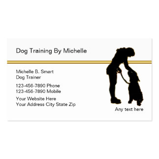 Classy Dog Trainer Business Cards