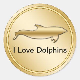 Classy Dolphin Stickers